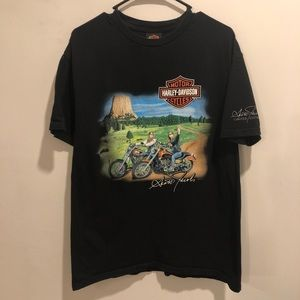 Harley Davidson Scotland graphic tee open road